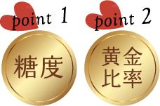 point1:糖度 point2:黄金比率